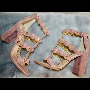 7b79f3a43cfc Sam Edelman Shoes - Sam Edelman Yuli Dusty Rose Strappy Sandal